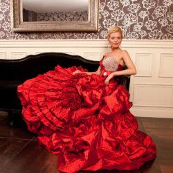 Brautkleid Abendkleid in rot