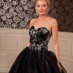 Brautkleid Abendkleid schwarz