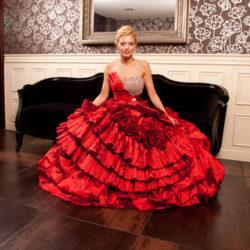 Brautkleid Abendkleid rot
